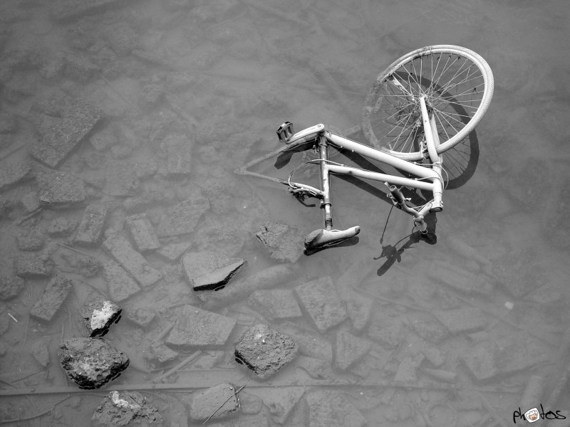 bicycle in the river