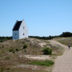 The sand-engulfed Buried Church (tilsandede kirke) at Skagen.