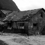 Volcano damaged house