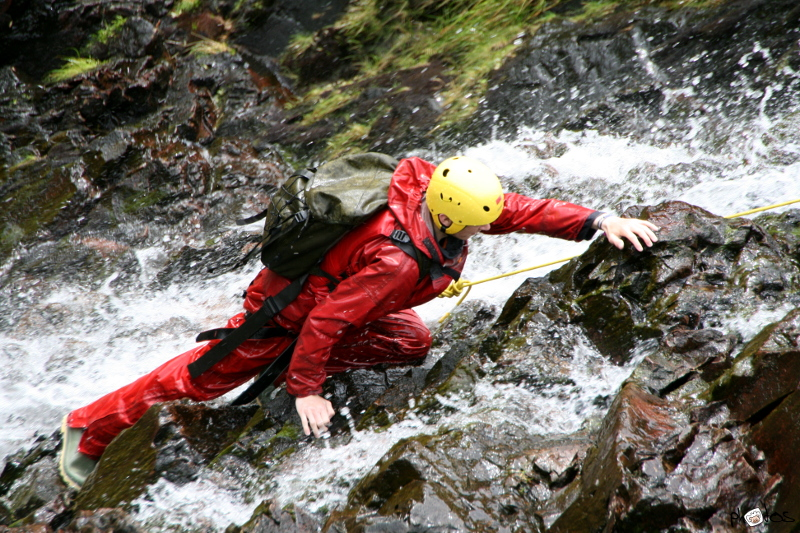 canyoning at stickle tarn