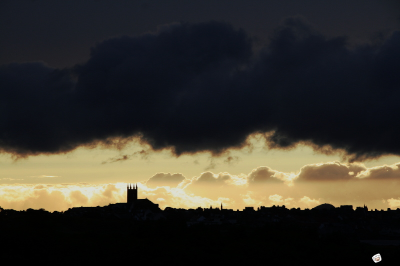 Dunbar rainy sunset