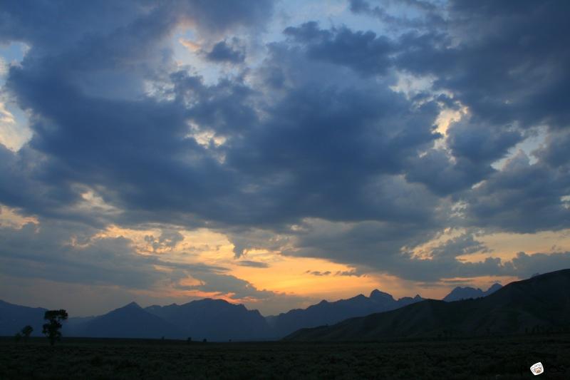 Blue Grand Teton sunset