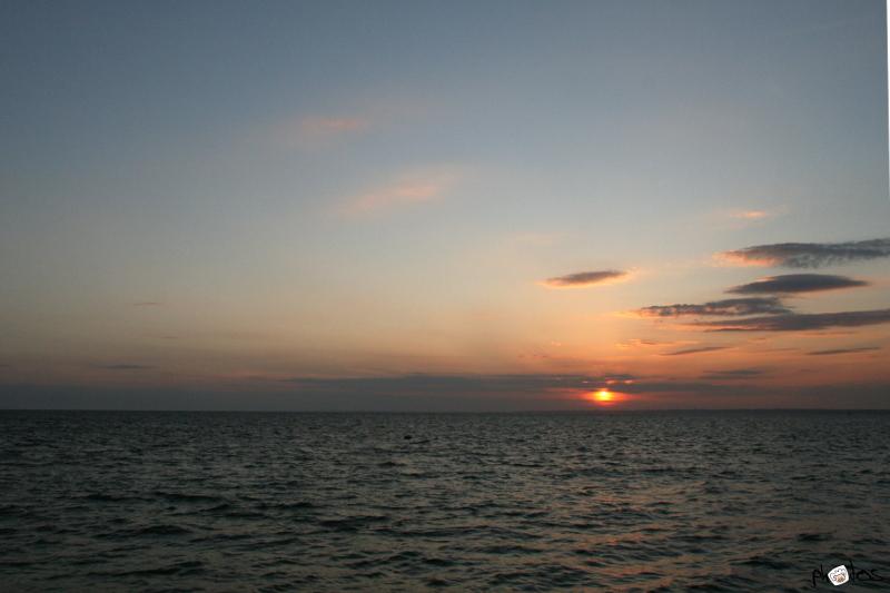 Totland bay sunset
