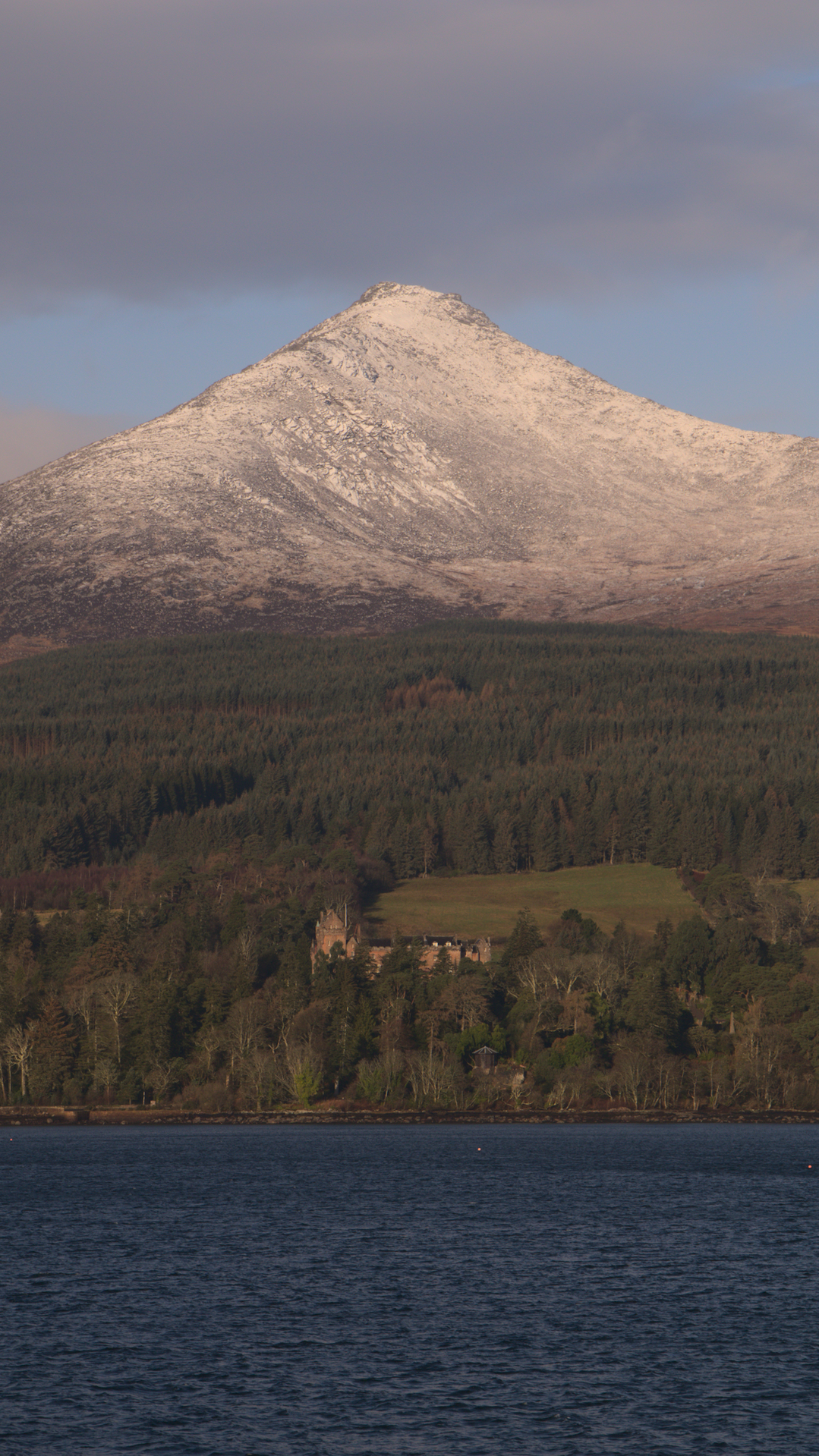 Brodick Castle and Goatfell